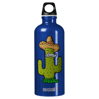 mexican cactus with mustache SIGG traveller 0.6L water bottle