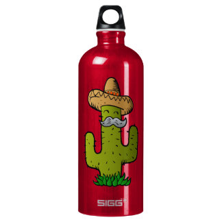 mexican cactus with mustache SIGG traveller 1.0L water bottle