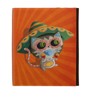 Mexican Cat with Sombrero iPad Folio Cover
