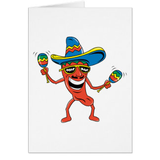 Mexican Chili Pepper Card