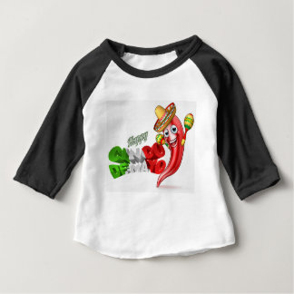 Mexican Cinco De Mayo Chilli Pepper Design Baby T-Shirt
