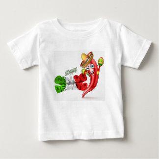 Mexican Cinco De Mayo Chilli Pepper Design Baby T-Shirt