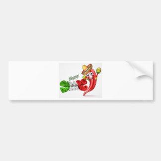 Mexican Cinco De Mayo Chilli Pepper Design Bumper Sticker