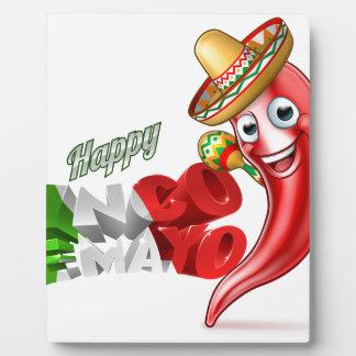 Mexican Cinco De Mayo Chilli Pepper Design Plaque