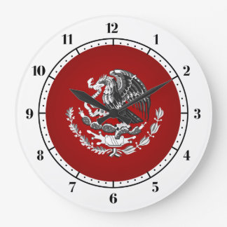 Mexican coat of arms large clock