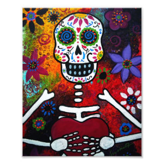 Mexican Corazon Face Day of the Dead Painting Art Photo
