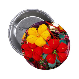 Mexican Crepe Flowers 6 Cm Round Badge