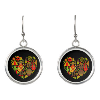 Mexican day of the dead fashion earrings