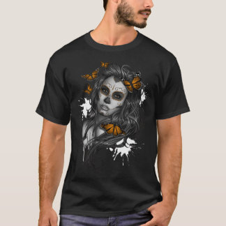 Mexican Day of the Dead Girl T-Shirt