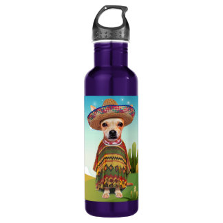 Mexican dog ,chihuahua 710 ml water bottle