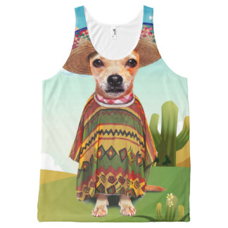 Mexican dog ,chihuahua All-Over print singlet