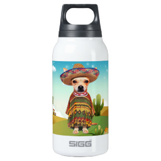 Mexican dog ,chihuahua insulated water bottle