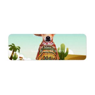 Mexican dog ,chihuahua return address label