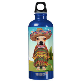 Mexican dog ,chihuahua SIGG traveller 0.6L water bottle