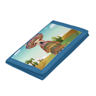Mexican dog ,chihuahua trifold wallet