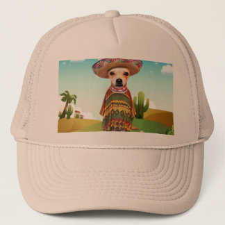 Mexican dog ,chihuahua trucker hat