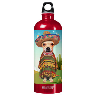 Mexican dog ,chihuahua water bottle