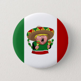 mexican donald trump 6 cm round badge