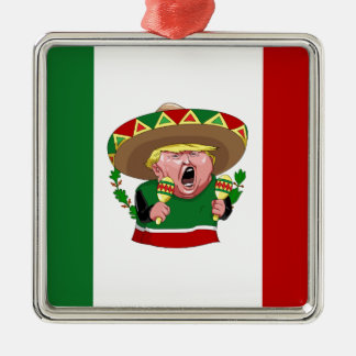 mexican donald trump metal ornament