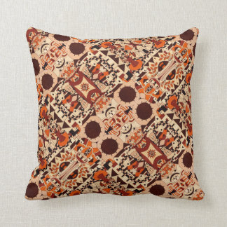 Mexican drawings - Throwing Pillow