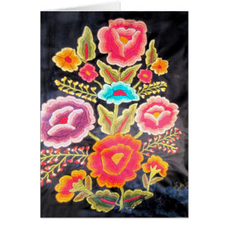 Mexican Embroidery design Greeting Card