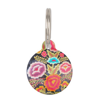 Mexican Embroidery design Pet ID Tag