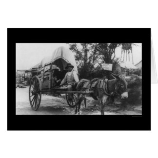 Mexican Emigration Wagon 1912 Card