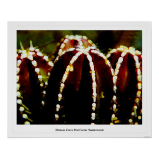 Mexican Fence Post Cactus (luminescent) Poster