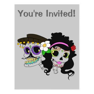 Mexican Festive Skull Postcard