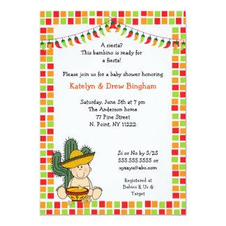 Mexican Fiesta Baby Shower Invite boy light skin