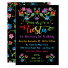 Mexican Fiesta Birthday Party with embroidery Card