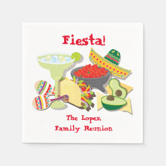 Mexican Fiesta cocktail or luncheon napkins Paper Serviettes