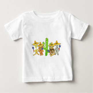 Mexican Fiesta Critters Baby T-Shirt