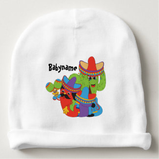 Mexican Fiesta Friends Personalized Baby Beanie