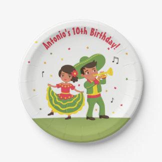 Mexican Fiesta Hispanic Kids Birthday Party Plates