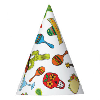 Mexican Fiesta icons Party Hat
