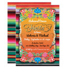 Mexican Fiesta Party Gold Glitter Rehearsal Dinner Card