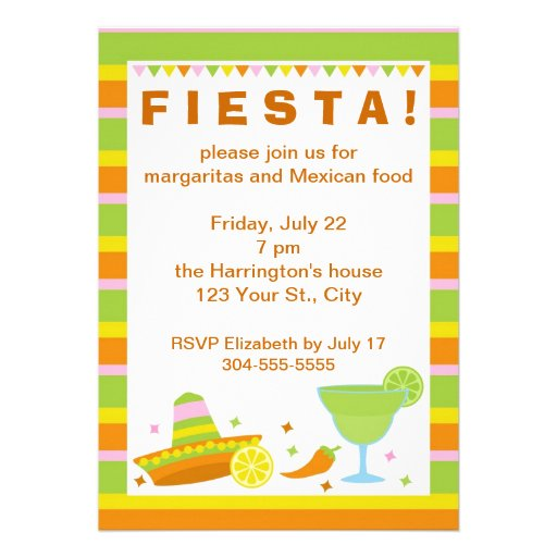 Mexican Fiesta Party Custom Invite