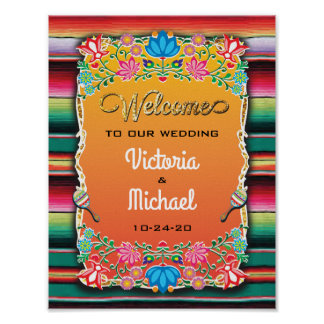 Mexican Fiesta Reception Wedding Sign