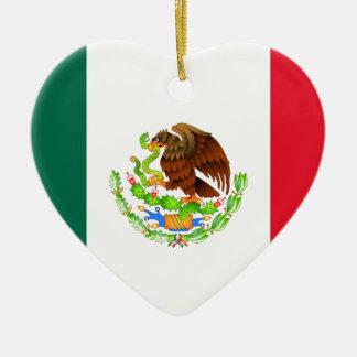 Mexican Flag Ceramic Ornament