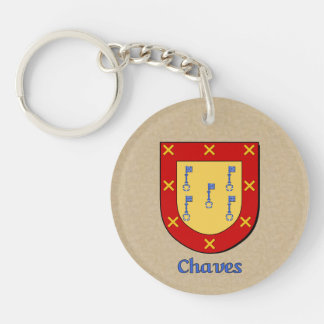 Mexican Flag Chaves Historical Shield Double-Sided Round Acrylic Key Ring