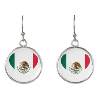 Mexican flag earrings