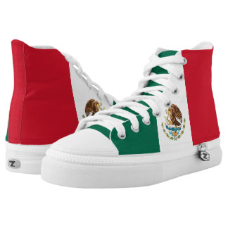 Mexican Flag High Top Shoes Printed Shoes