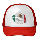 Mexican Flag Lips Mesh Hats