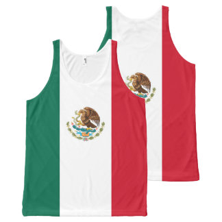 Mexican Flag of Mexico Green White Red Tricolor All-Over Print Singlet
