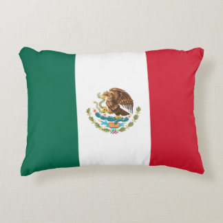 Mexican Flag of Mexico Tricolor Lumbar Pillow