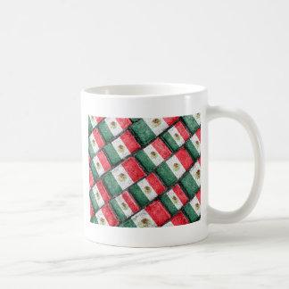 Mexican Flag Pattern Design Coffee Mug