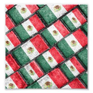Mexican Flag Pattern Design Photo Print