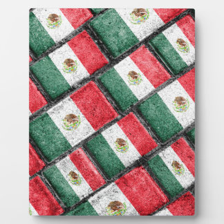 Mexican Flag Pattern Design Plaque