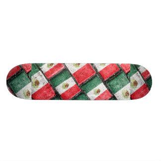 Mexican Flag Pattern Design Skateboard